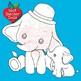 Elephant Babies Digital Stamps, Baby Elephants Clipart, AMB-2287D