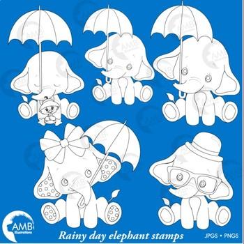 Elephant Babies Digital Stamps, Baby Elephants Clipart, AMB-2287G