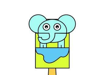 Elephant Bag Hand Puppet