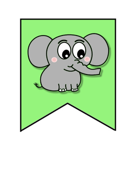 Elephant Banner ~ Let's Have a Ton of Fun!