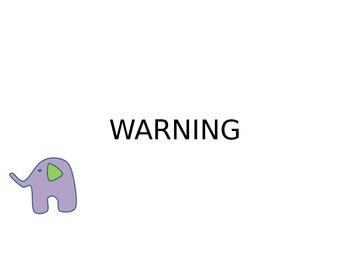 Elephant Behavior Chart