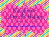 Elephant Birthday Posters