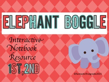 Elephant Boggle Interactive Notebook/Word Work Game