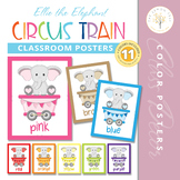 Elephant Circus Train Classroom Color Posters
