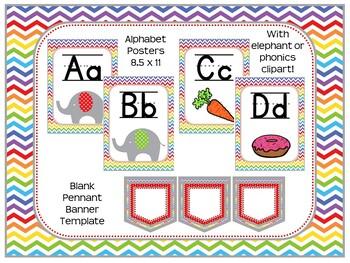 Elephant Classroom Decoration Pack