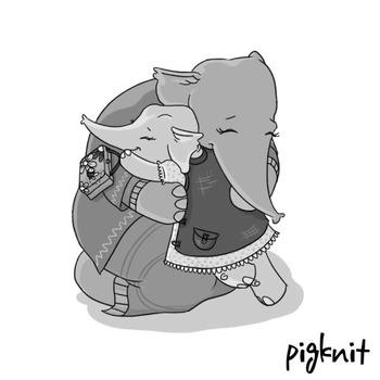 Elephant Clip Art Black & White