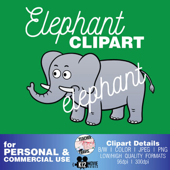 Elephant Clip Art | (TeacherTravis Clipart)