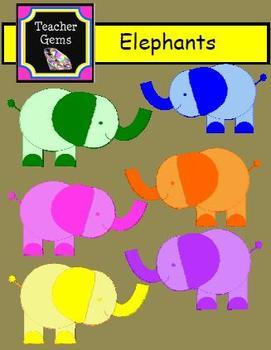 Elephant Clipart - Commercial Use Okay