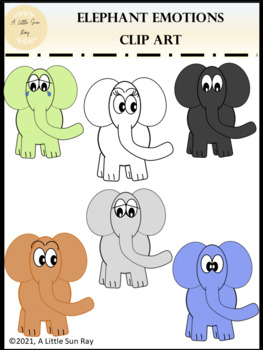 Elephant Clipart *Splash of Delights*