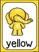 Elephant Color Posters (Standing Elephants)