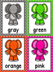 Elephant Color Word Posters & Memory Cards