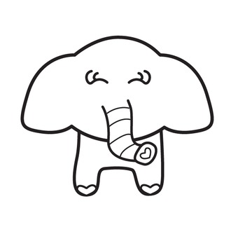 Elephant {Colorful Safari Critters}