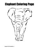 Elephant Coloring Page Bundle