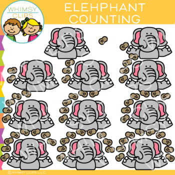 Elephant Counting Clip Art