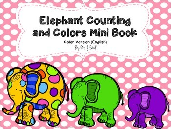 Elephant Counting & Colors MiniBook