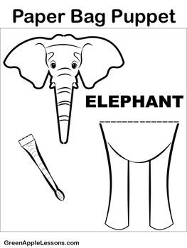 Elephant Craft   Elephant Activity   Elephant Craftivity
