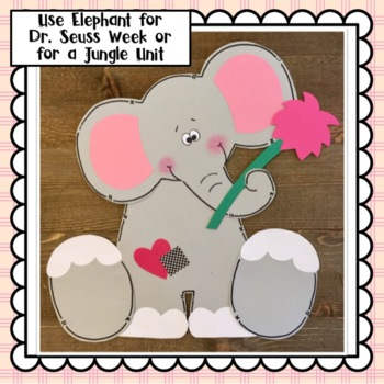 Elephant Craft for Read Across America Week: March Craft