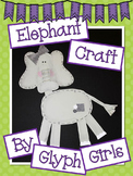 Elephant Craft with Writing Options