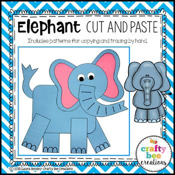 Elephant Cut and Paste