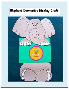 Elephant Decorative Display Bulletin Board Craft By Carol S Cuties
