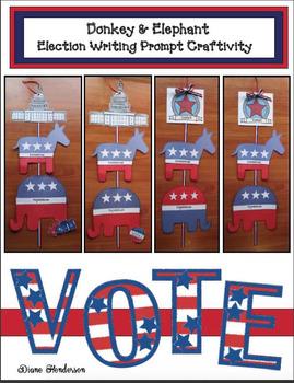 Elephant & Donkey Election Writing Prompt Craft