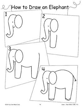 Elephant (Draw Then Write)