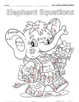 Elephant Equations Project - One- and Two-step Equations