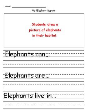 Elephant Explanatory Text Writing