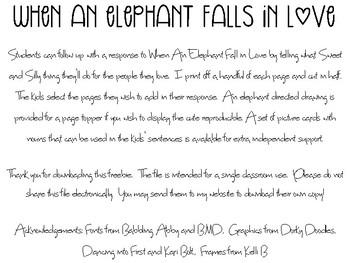 Elephant Falls In Love {Freebie}
