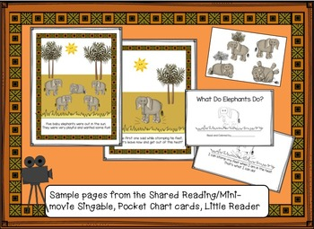Elephant Song! Five Baby Elephants Shared Reading Singable