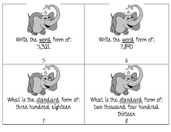 Elephant Fun Place Value