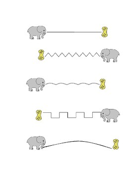 Elephant Handwriting Practice Worksheet Freebie
