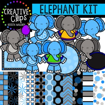 Elephant Kit {Creative Clips Digital Clipart}
