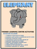 Elephant   Kit One  - Themed Learning Center Activity Kit