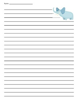 Elephant Lined Paper