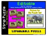 Elephant Mama & Baby - Expandable & Editable Strip Puzzle