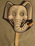 Elephant Mask. Fun Craft Art