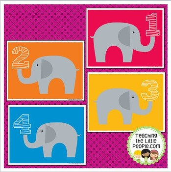 Elephant Math/Playdough Mats for Preschool and Kindergarten