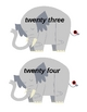 Elephant Number Words Center Activity
