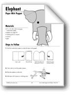 Elephant Paper Mitt Puppet