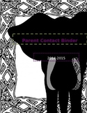 Elephant Parent Contact Binder Cover Free Printable