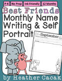 Elephant & Pig Best Friends Monthly Name Writing Self Port