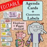 Elephant + Piggie Daily Agenda Cards and Classroom Labels