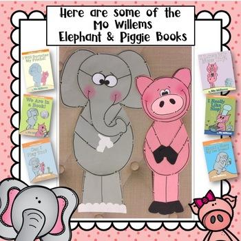 Elephant & Piggie  Mo Willems Book Companion Craft