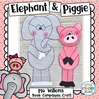 Elephant & Piggie Craft: Mo Willems book craft: Book Companion Crafts