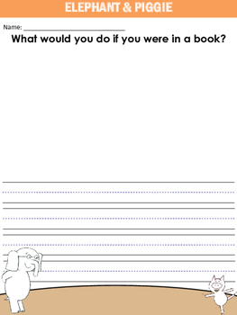 Elephant & Piggie Writing Prompts