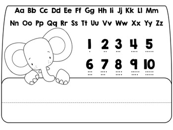 Kindergarten Elephant Placemat