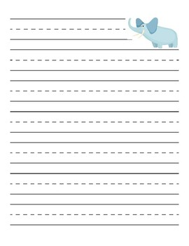 Elephant Primary Lined Paper