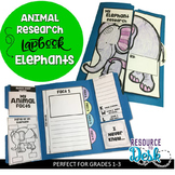 Elephant Research Project - A Zoo Animal Research Lapbook