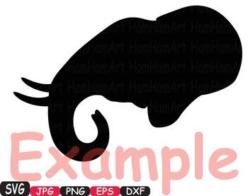 Elephant SVG Mascot Jungle Animal Safari family Decor wild clipart circus -384S